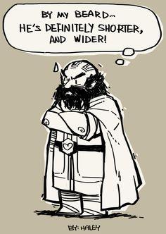 Dwalin: He's shorter! and wider! by haleyhss.deviantart.com on @deviantART