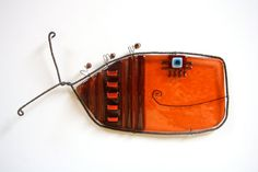 Fused glass fish - Jerry Harty