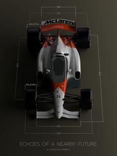 McLaren-Honda Formula 1 Concept with closed cockpit