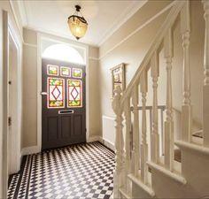 Victorian tiled hallway