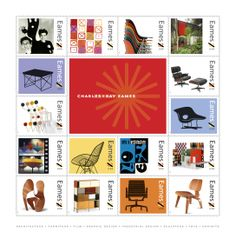 Eames postage sheet: Have one, framed in my living room. Love it.