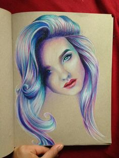 Colorful prisma drawing of girl art colors. Basic Drawing, Drawing Ideas, Art Et Illustration, Color Pencil Art, Fantastic Art, Pictures To Draw, Art Techniques, Colored Pencils, Art Girl