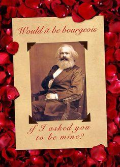 marx hegel upside down valentine card