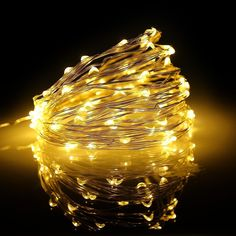 Blusmart Usb Copper Lights 33ft Copper Wire 100 Leds Holiday Indoor String Light Outdoor Christmas