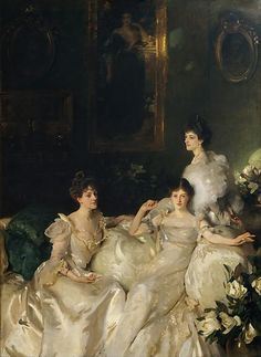 John Singer Sargent (American, 1856–1925) | The Wyndham Sisters: Lady Elcho, Mrs. Adeane, and Mrs. Tennant | 1899