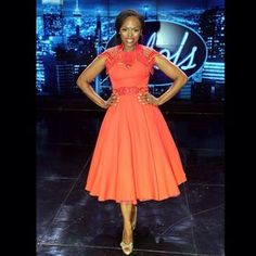 Unathi an RSA Idol judge looking amazing in this dress, love the colour as well.