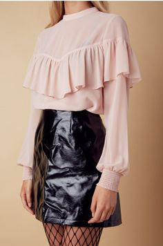 Leaps and Bounds Front Ruffle Top