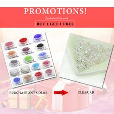 Buy 1 Get 1 Free Micro pixie rhinestone New Crystal 3D Nail 1.3mm Nail Rhinestones Decoration DIY nail art about 1440pcs/pack *** Clicking on the image will lead you to find similar product