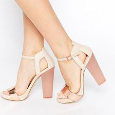 ALDO Cabello Leather Metallic Barely There Heeled Sandals
