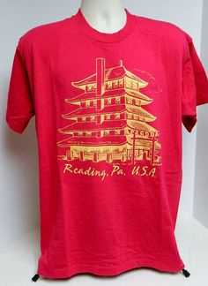 1993 Reading Pennsylvania USA Pagoda T Shirt Size XL by BeyondLeaf @ebay @etsymeetntweet  @etsy #pagoda #readingPA #PA #pennsylvania #vintagetee #vintagefashion #vintageaparrel #chinese