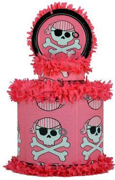Pink pirate pinata