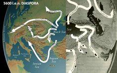 Se prea poate ca refugiaţii din nordul şi apusul lacului Marii Negre, care inunda, să fi fugit înspre Europa şi Ucraina, iar aceia de pe partea sudică, înspre Anatolia şi dincolo de ea. De-a lungul ţărmului vestic şi nordic, câteva fluvii mari, Dunărea, Nistrul, Bugul, Niprul şi Donul, i-au ghidat pe refugiaţi în sus, prin văile largi, până departe, înăuntrul Europei şi stepelor Rusiei, către solurile bogate în loess, lăsate de vânturile din perioada glaciară. Black Sea, Persian, Asia, Persian People, Persian Cats, Persian Language