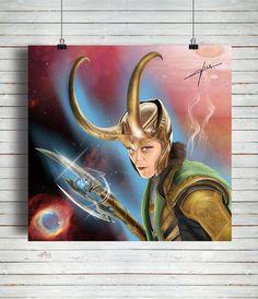 Poster Loki Paint / Artista Alex Guenther