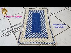 Tapetes Zig Zag, Types Of Craft, Crochet Patterns, Outdoor Blanket, Rugs, Crafts, Diagonal, Home Decor, Youtube