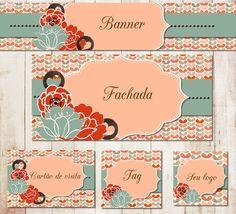 kit combo Elo7 flower