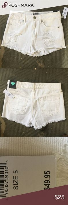 NWT Kendall & Kylie| Shorts High waisted distressed white denim from PacSun. Never worn. Still with tags. They are too big for me, so please make an offer! Kendall & Kylie Shorts