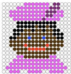 #knutselen met kinderen tijdens #sinterklaas #DIY ~Patroon voor op de kralenplank Pearler Bead Patterns, Pearler Beads, Picture Logic, Saint Nicolas, Iron Beads, Diy Crafts For Kids, Beading Patterns, Pixel Art, Pop Art