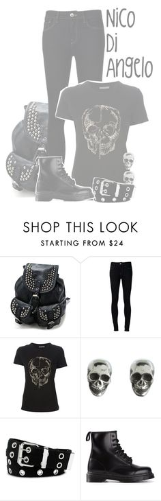 """""""Nico Di Angelo"""" by xx-beautifully-insane-xx ❤ liked on Polyvore featuring Ström, Alexander McQueen, King Baby Studio, Relic and Dr. Martens"""