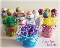 Epic yellow rattan easter basket idea with likable candies and lovely small crafted easter baskets idea with candies in blue basket and polka dots basket and negle Choice Image