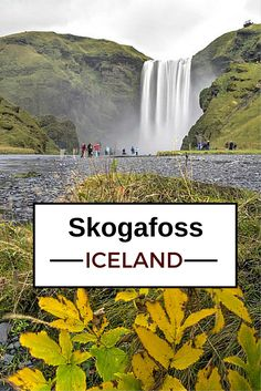 Skogafoss, Iceland - one of the famous waterfalls on the South Coast. The 60m curtain sometimes get crossed by a rainbow - Click to open the guide with many photos and detailed information to plan your visit