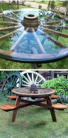 This would make a great table for outside eating and setting.