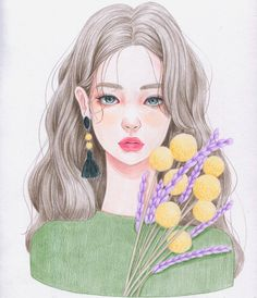 Discovered by BaTul_yõ. Find images and videos about kpop, girls and bts on We Heart It - the app to get lost in what you love. Realistic Drawings, Cute Drawings, Character Illustration, Illustration Art, Cute Cartoon Wallpapers, Wow Art, Anime Art Girl, Photo Instagram, Aesthetic Art