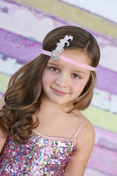 Feather Headband - Pink Feather Headband - Gatsby Headband - Rhinestone Headband - Girls Headband - Prom Headband - Gatsby Feather Headband