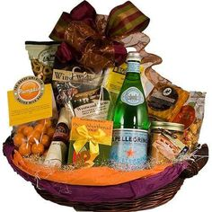 A hamper of mouth-watering goodies and drink are ideal for gifting on festive occasions.