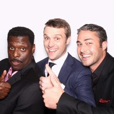 Eamonn Walker, Jesse Spencer, and Taylor Kinney of Chicago Fire