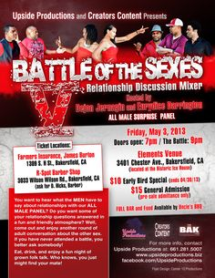Battle of the Sexes 5 Flyer Design (I also did the photography at the top)
