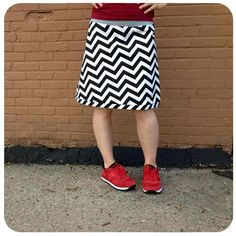 I met this designer when I lived in Madison - she is super talented- I love this skirt!  Image of KATE - - black zig-zag