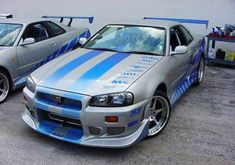Brian's Nissan Skyline GT-R from 2 Fast 2 Furious. Check out more Nissans in the Fast and the Furious movies by clicking the photo!