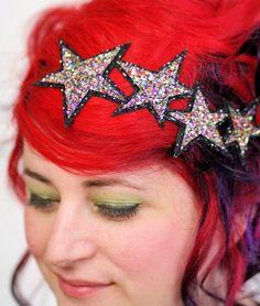 Glitter Stars Headband multi colour and black by JanineBasil