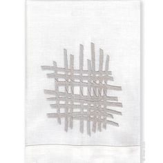 Finely detailed embroidered thread paintings for which Anali is so well known. Anali's Zen design is embroidered on white linen guest towels.