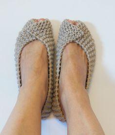 Off White Gray Beige COTTON Women's Slippers NonSlip