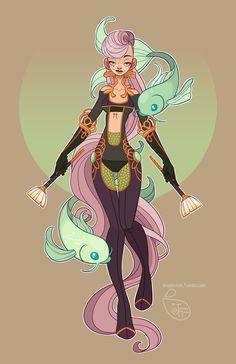 Character Design - Pisces by MeoMai.deviantart.com on @DeviantArt