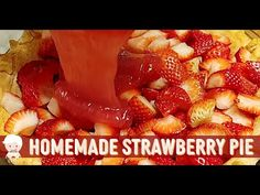 Fresh Strawberry Pie with Homemade Sweet Strawberry Glaze, Southern Cooking with CVC - YouTube Shoneys Strawberry Pie, Strawberry Glaze, Strawberry Recipes, Apple Pie Recipe Easy, Apple Pie Recipes, Dessert Recipes, Desserts, Strawberries, Homemade Pies