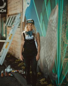 This is @floxnz in front of her wall on marine parade for the @seawalls_ mural festival which is in full swing in Napier this week. Make sure you visit the artists and say hello. The project aims to raise awareness and highlight issues in the marine ecosystems and is a worldwide Street Art festival. They are also amazing works