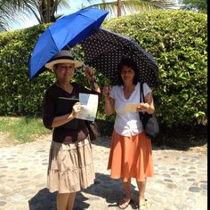Jehovah's Witnesses preaching the Good News