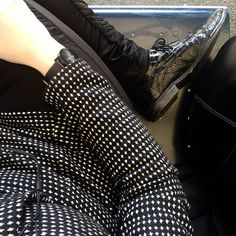 You go back to her and I go back to black #monochrome #brogues #wiwt #ootd #blackandwhite #weeklyLL #femme #dapperq #WhatLLworeToday