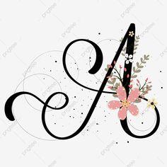 Letter H Design, Alphabet Letters Design, Flower Alphabet, Flower Letters, Letter Art, Hand Lettering Art, Graffiti Lettering, Frame Floral, Calligraphy Drawing