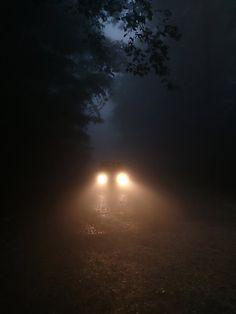 Dark creepy road, car headlights on We Heart It Creepy Photography, Halloween Photography, Dark Photography, Photography Ideas, Night Aesthetic, Aesthetic Photo, Aesthetic Pictures, Aesthetic Dark, Pumpkin Face
