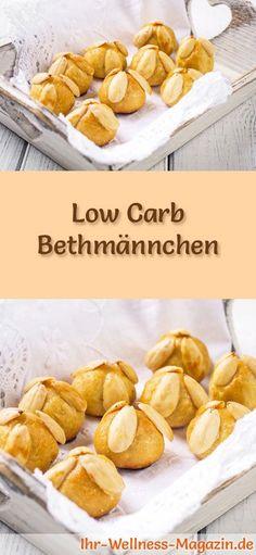 Low-Carb-Weihnachtsgebäck-Rezept für Bethmännchen: Kohlenhydratarme, kalorienreduzierte Weihnachtskekse - ohne Getreidemehl und Zucker gebacken ... #lowcarb #backen #weihnachten