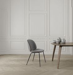 GUBI // Beetle chair and Gubi dining table