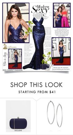 """Selena Gomez at The 58th GRAMMY Awards!!"" by lilly-2711 ❤ liked on Polyvore featuring Etiquette, Chi Chi, Jennifer Fisher, women's clothing, women, female, woman, misses, juniors and RedCarpet"
