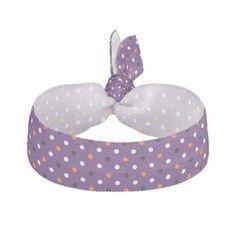 polka dots dotty halloween pattern ribbon hair tie - Halloween happyhalloween festival party holiday