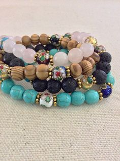 A personal favorite from my Etsy shop https://www.etsy.com/listing/280665840/hippie-boho-stacking-bracelets-stretch