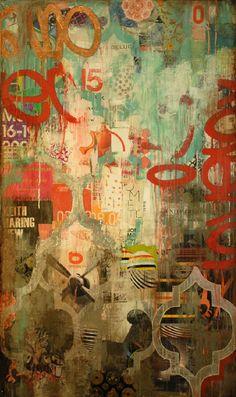 """Amore"" 60""x36"" Jill Ricci  Mixed Media on Canvas"