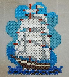 Hama beads Ship by usedcarspecialist