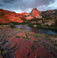 Sundial Peak, Wasatch Range, Utah, sunset, Lake Blanche